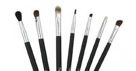 The minimum set of makeup brushes