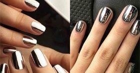 Зеркальное покрытие ногтей